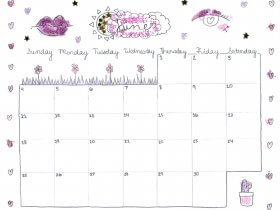 Saturday Printable: A June Calendar