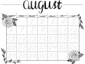 Printable: An August Calendar