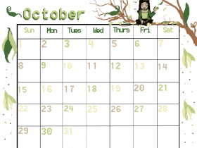 Printable: An October Calendar