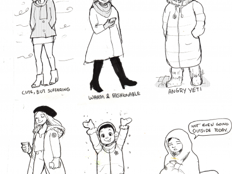 Printable: Winter Fashion Coloring Page