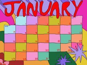 Printable: A January Calendar