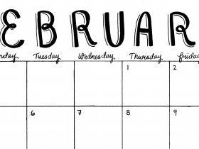 Printable: A February Calendar