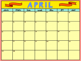 Printable: An April Calendar
