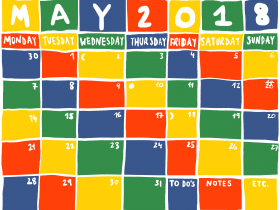 Printable: A May Calendar
