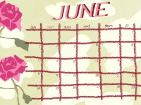 Printable: A June Calendar