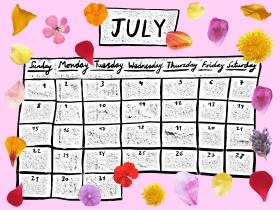 Printable: A July Calendar