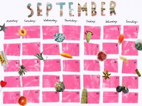 Printable: A September Calendar