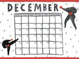 Printable: A December Calendar