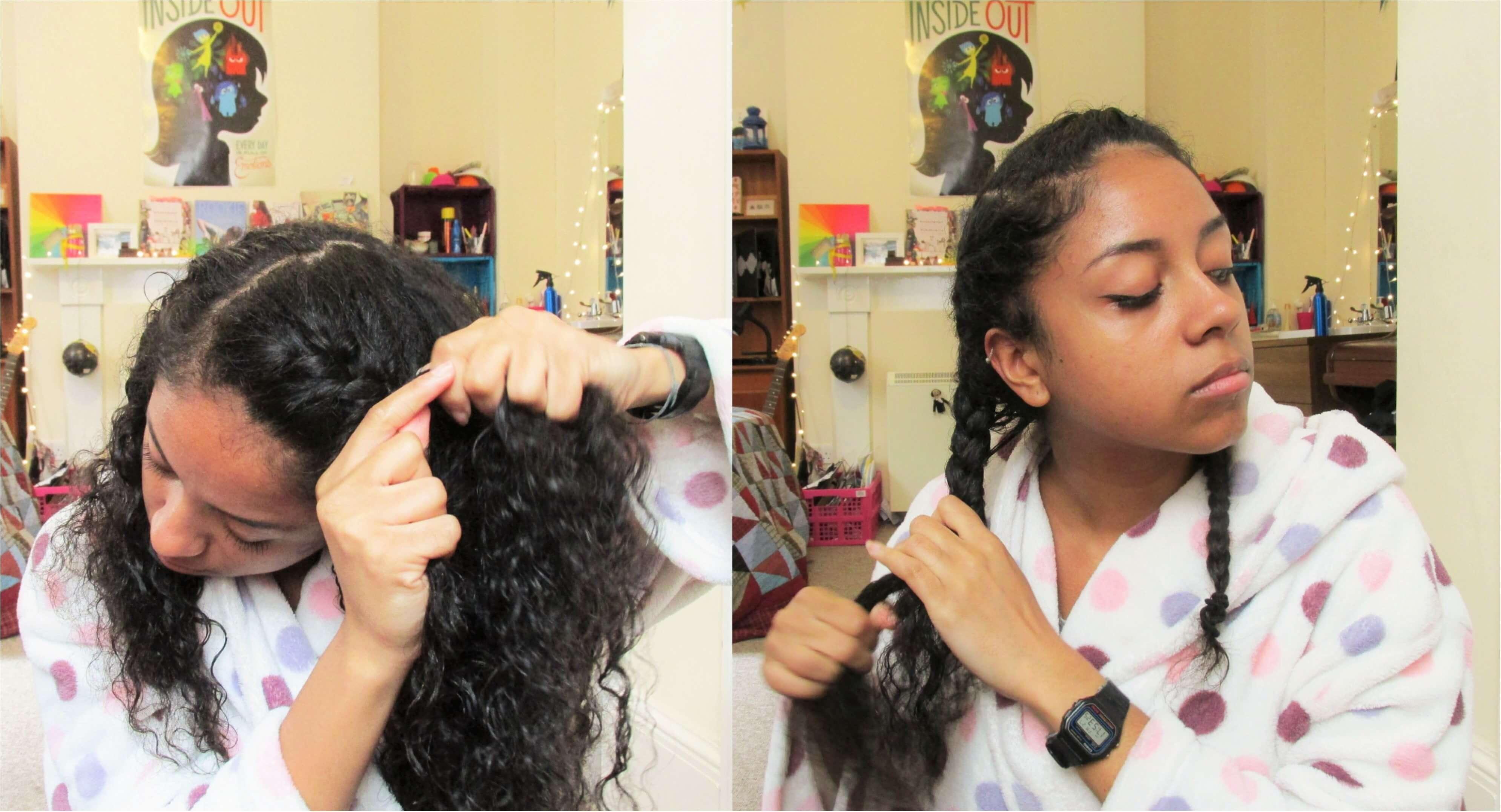 Braidout step 3- Braiding